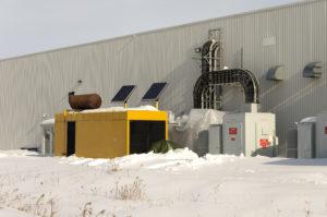winterization - standby generator in snow