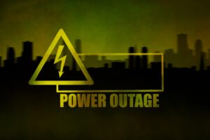 power outages sign